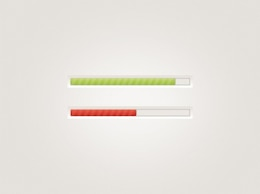 subtle web ui progress bars set psd