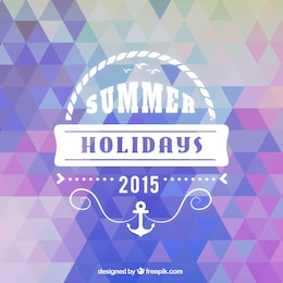 Summer background in geometric style