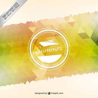 Summer background in polygonal style