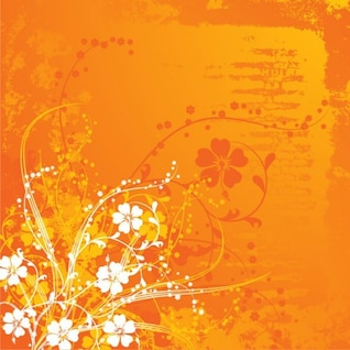Summer background with flowers. Orange. Perfect for scrap