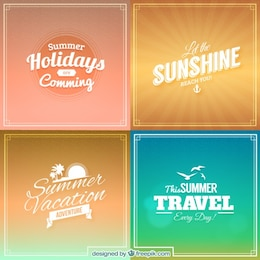 Summer backgrounds in lettering style