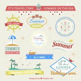 Summer badges pack