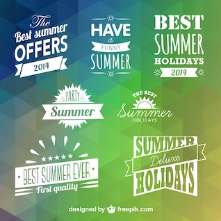 Summer badges vector free