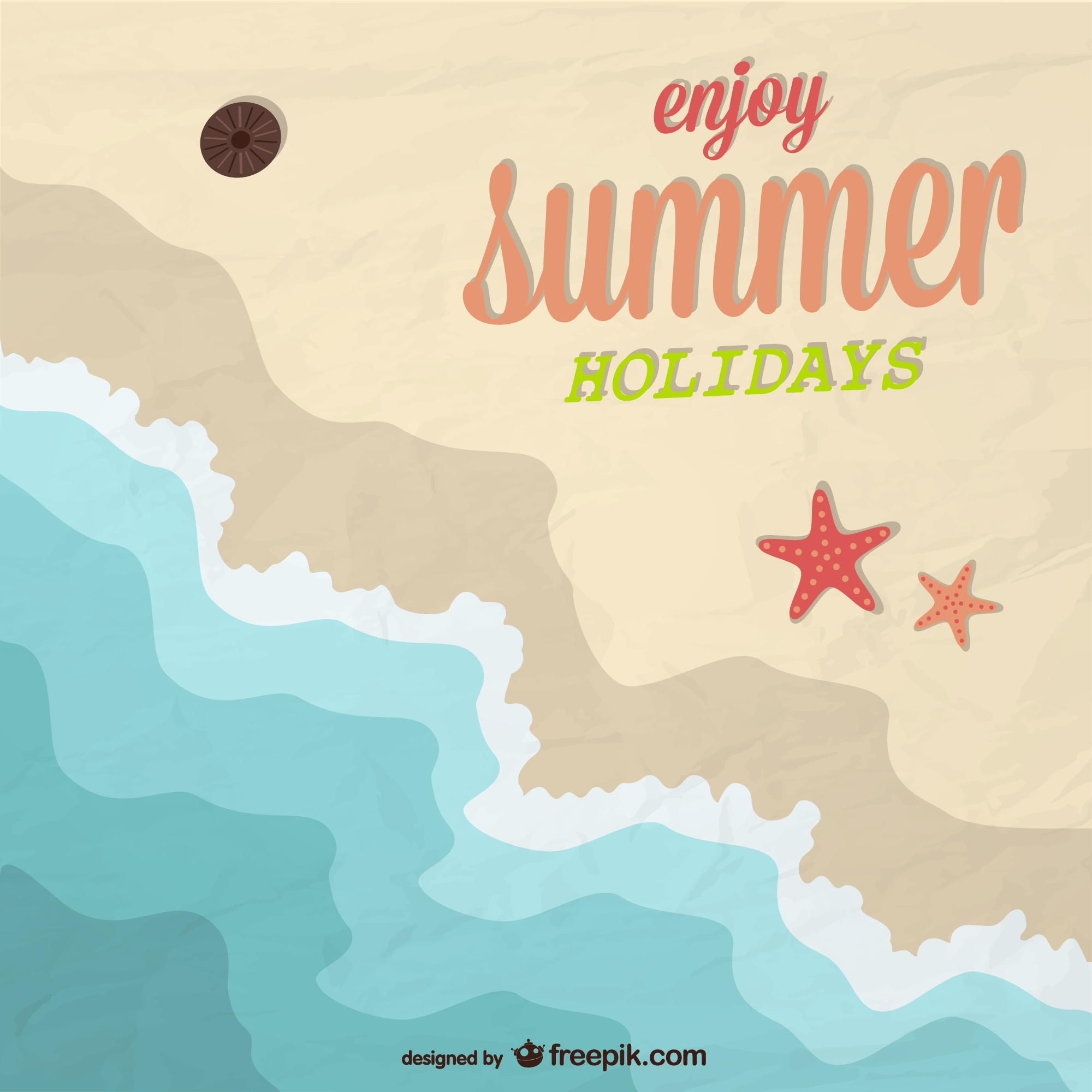 Summer beach holiday vector design