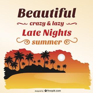 Summer beach island vector