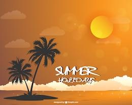 summer beach landscape wallpaper download