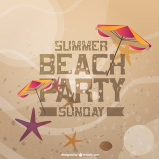Summer beach party invitation card
