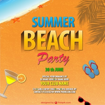 Summer beach party vector design
