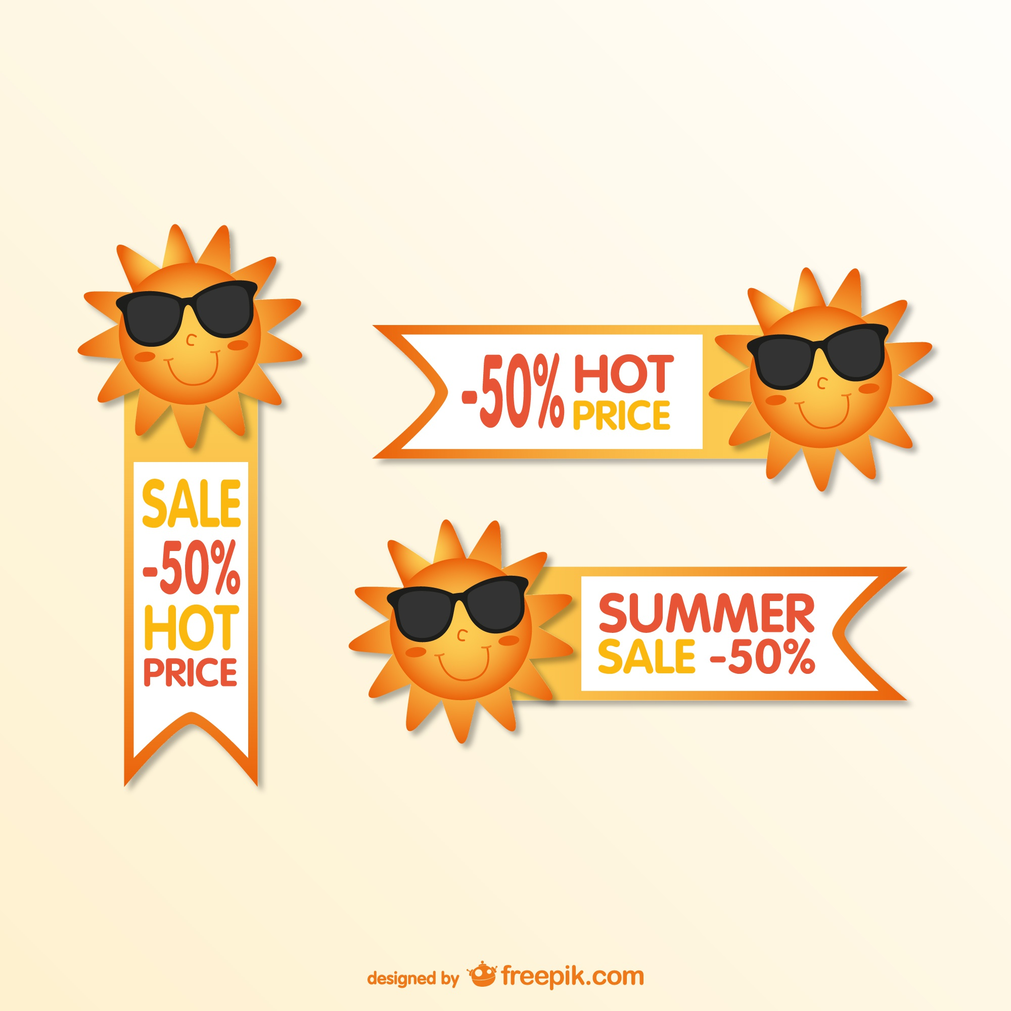 Summer cartoon sale tags