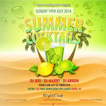 Summer cocktails lemon drink