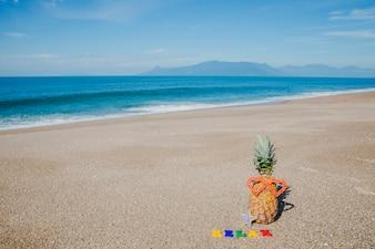 ビーチの夏のコンポジション