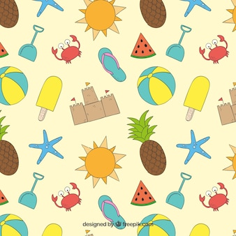 Summer elements pattern