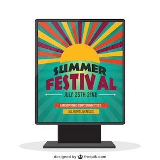 Summer festival - vector poster template