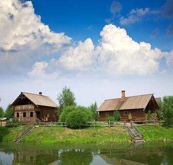 Summer from rural landscape