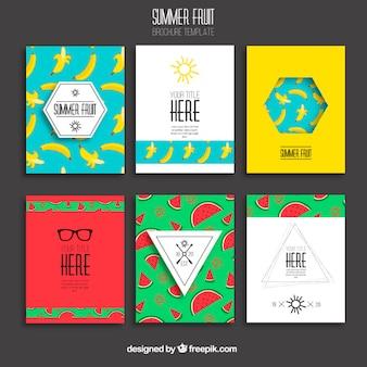Summer fruits brochures