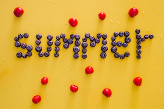 Summer fruits composition