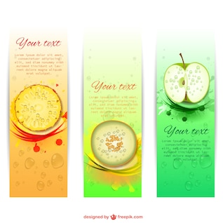 Summer fruity banners