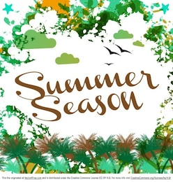 Summer holidays abstract background