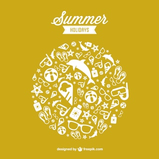 Summer holidays free vector