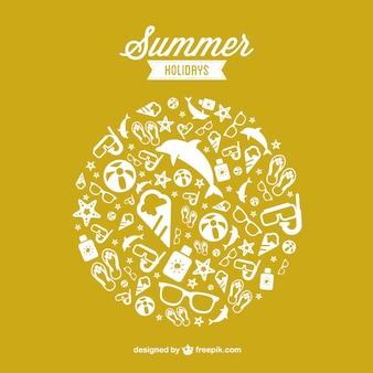 Summer holidays free vector