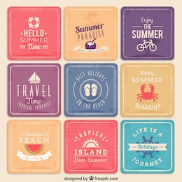 Summer holidays posters
