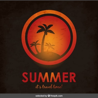 Summer it's travel time background