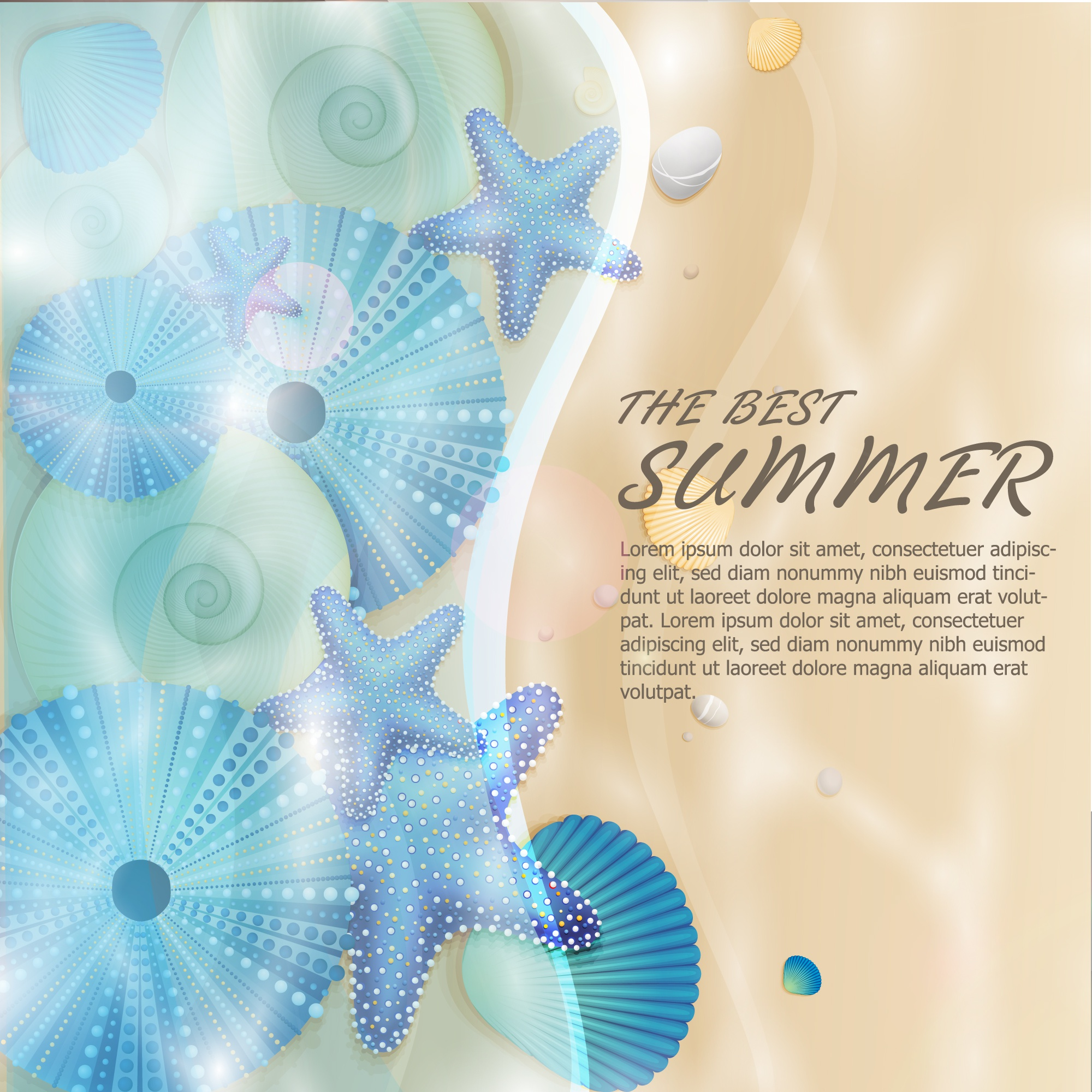 Summer nature vector background