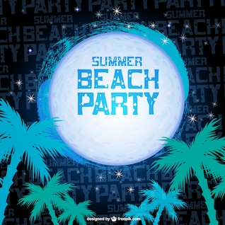 Summer night beach party