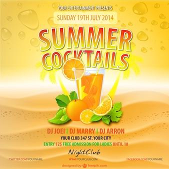 Summer orange juice drink vector