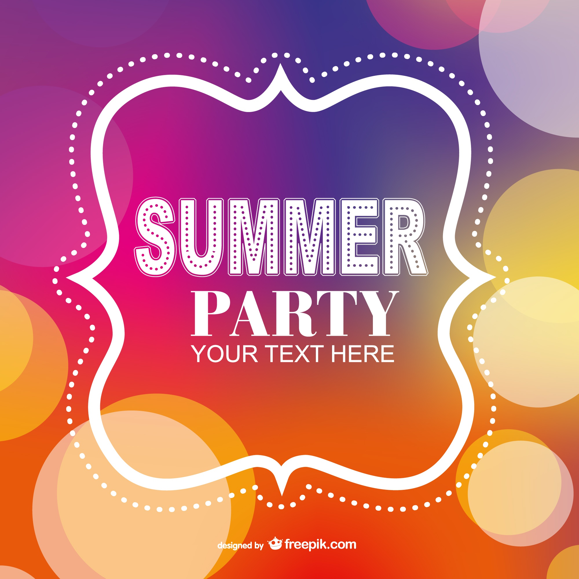 Summer party poster invitation template
