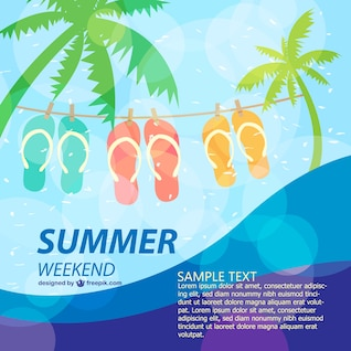 Summer poster fun holiday template