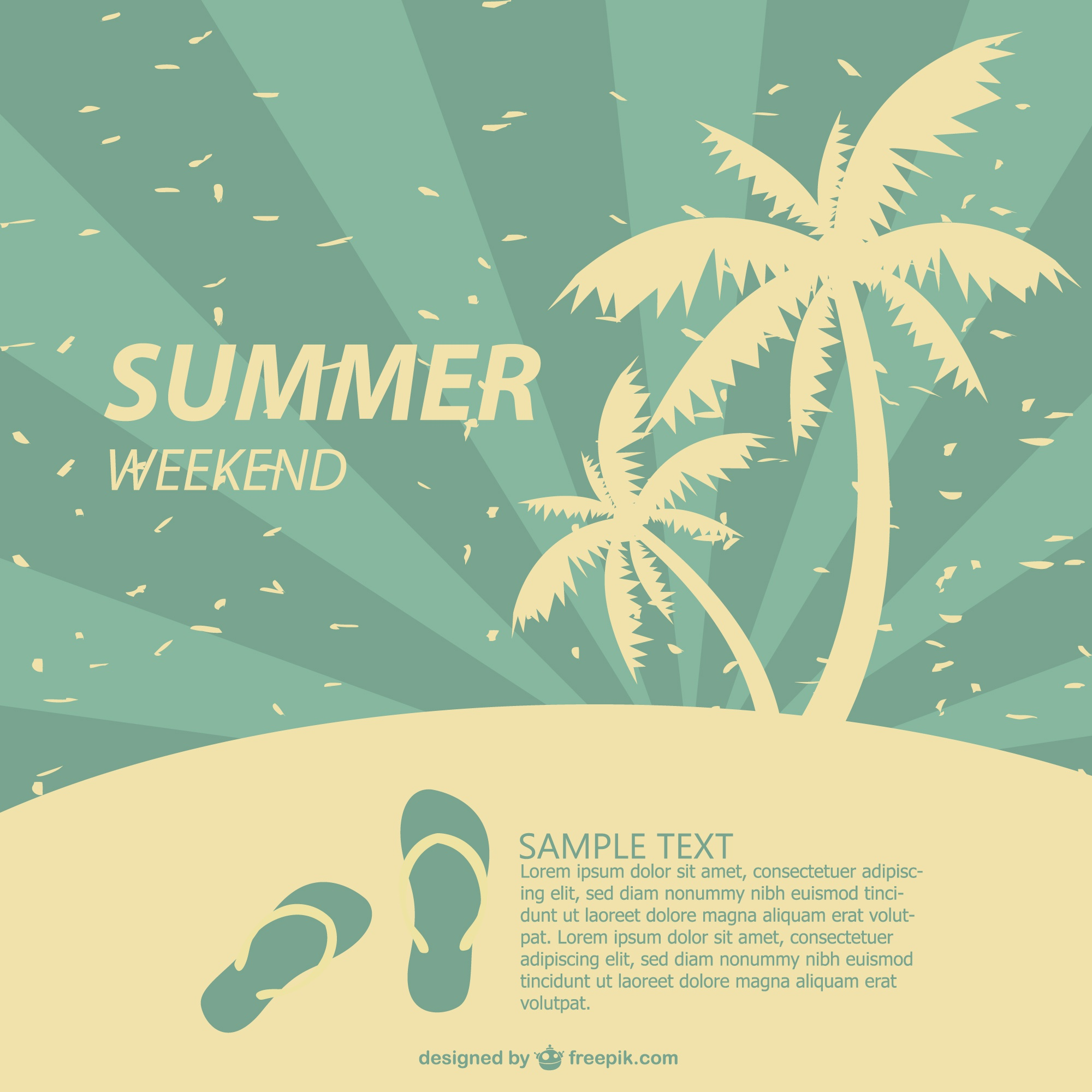 Summer poster tropical design