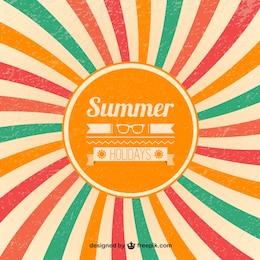 Summer retro sunburst background