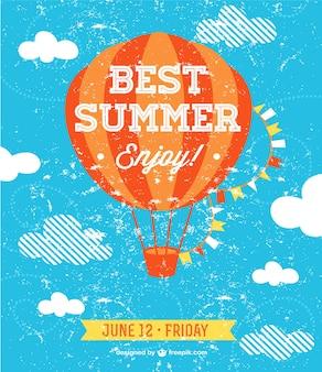 Summer sky vector illustration