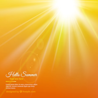 Summer sunshine background