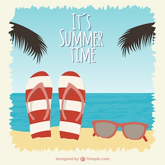 Summer time vector illustration