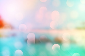 Summer tropical beach bokeh background