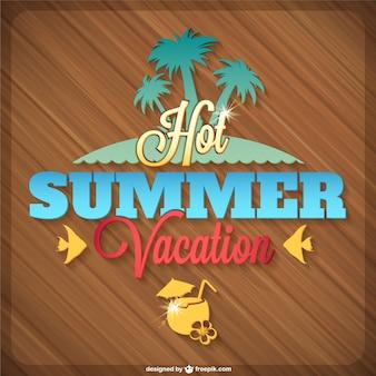 Summer tropical island vector graphics