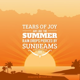 Summer typographic quote