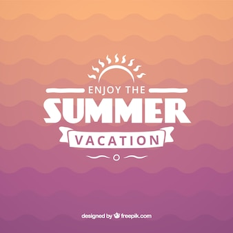 Summer vacation badge
