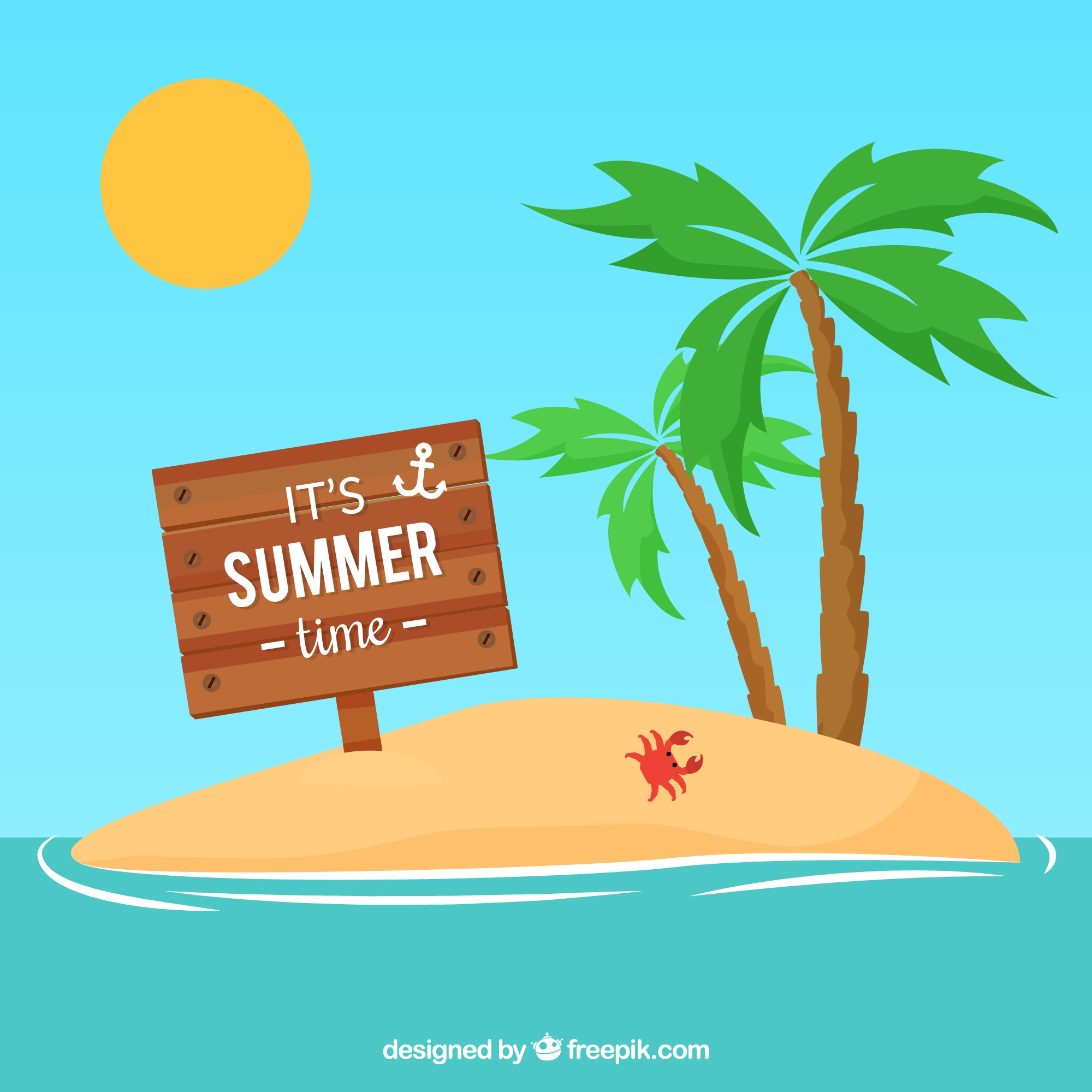 Summer wooden sign