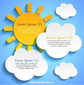 Sun and cloud labels