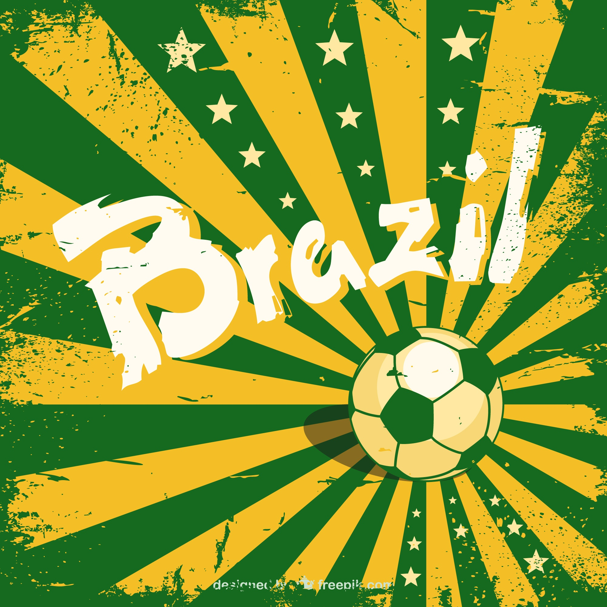 Sunburst vector Brazil