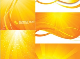 Sunlight rays backgrounds set