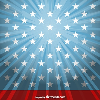 Sunlight USA flag vector template