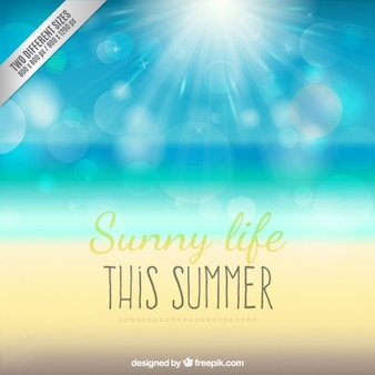 Sunny life background
