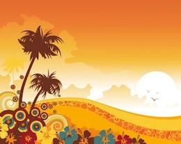 Sunset Beach Swirl Accents