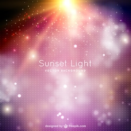 Sunset light background with sparkles