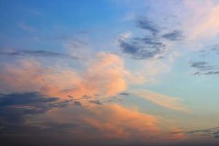 sunset sky  scene