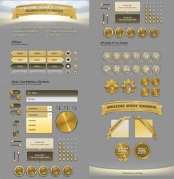 sunshine web ui elements kit psd